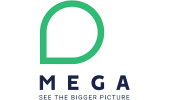 logo MEGA's internationale expansie begint intern
