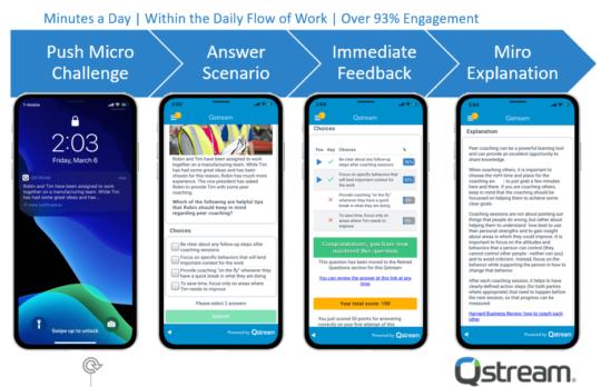 Mobiel leren via Qstream