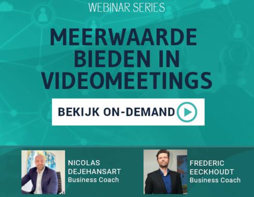 Watch on-demand Meerwaarde bieden in videomeetings