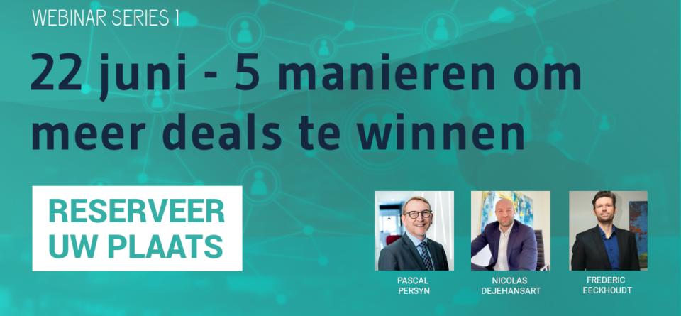 Webinar 22 juni - 5 manieren om meer deals te winnen